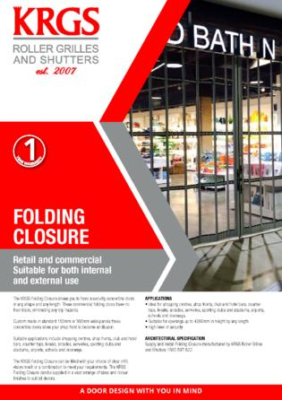 Folding Closure Brochure