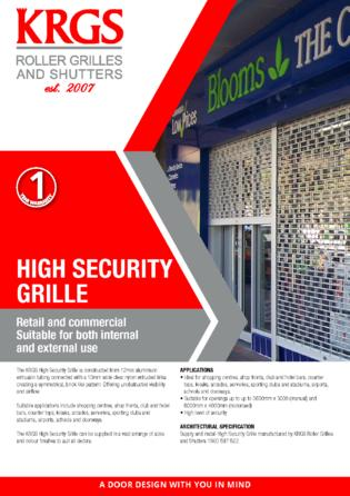 High Security Grille Brochure