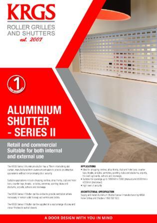 Series II Aluminium Shutter Brochure