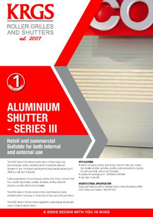 Series III Aluminium Shutter Brochure