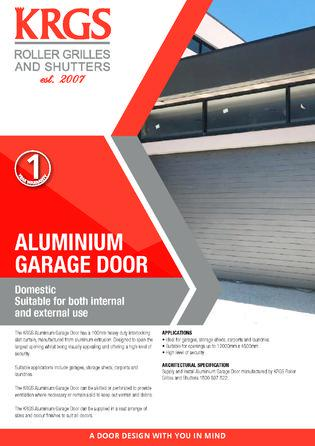 Aluminium Garage Doors Brochure