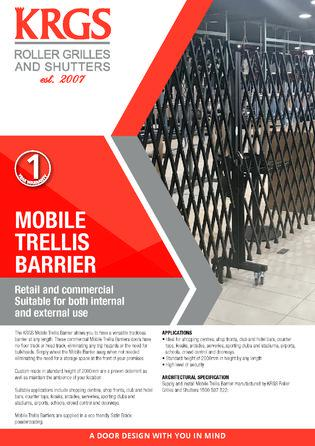 Security Mobile Trellis Barrier Brochure