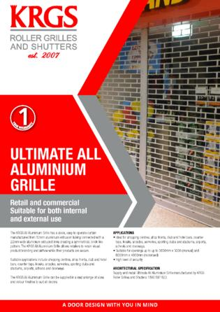 Ultimate All Aluminium Grille Brochure