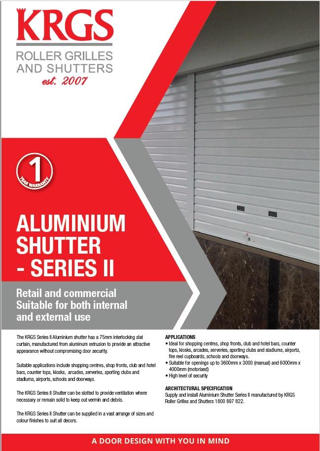 Series II Aluminium Shutter - Solid Slat Brochure