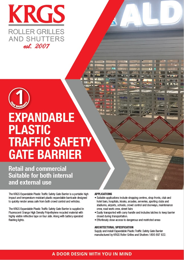 Expandable Traffic Barrier Brochure
